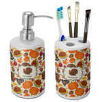 Traditional Thanksgiving Bathroom Accessories Set (Ceramic) (Personalized)