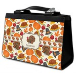 Traditional Thanksgiving Classic Tote Purse w/ Leather Trim (Personalized)