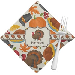 Traditional Thanksgiving Napkins (Set of 4) (Personalized)