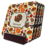 Traditional Thanksgiving Coaster Set w/ Stand (Personalized)