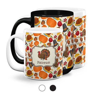 Traditional Thanksgiving Coffee Mugs (Personalized)
