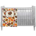 Traditional Thanksgiving Crib Comforter / Quilt (Personalized)