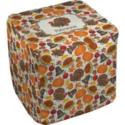 Traditional Thanksgiving Cube Pouf Ottoman (Personalized)