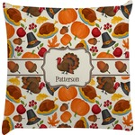 Traditional Thanksgiving Decorative Pillow Case (Personalized)