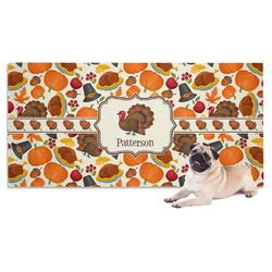 Traditional Thanksgiving Dog Towel (Personalized)