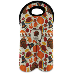 Traditional Thanksgiving Wine Tote Bag (2 Bottles) (Personalized)