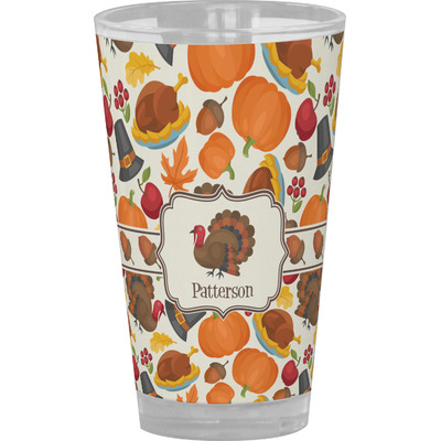 Traditional Thanksgiving Drinking / Pint Glass (Personalized)