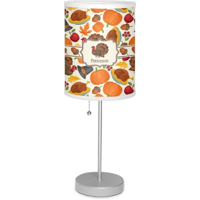"""Traditional Thanksgiving 7"""" Drum Lamp with Shade (Personalized)"""