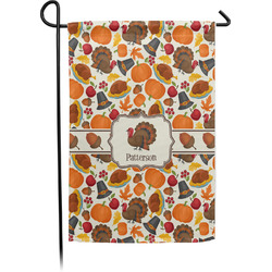 Traditional Thanksgiving Garden Flag - Single or Double Sided (Personalized)
