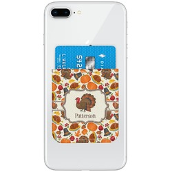 Traditional Thanksgiving Genuine Leather Adhesive Phone Wallet (Personalized)