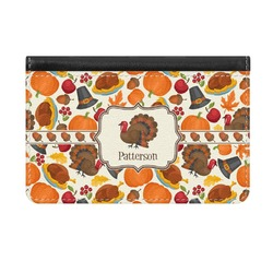 Traditional Thanksgiving Genuine Leather ID & Card Wallet - Slim Style (Personalized)