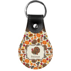 Traditional Thanksgiving Genuine Leather  Keychain (Personalized)