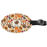 Traditional Thanksgiving Genuine Leather Oval Luggage Tag (Personalized)