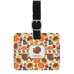 Traditional Thanksgiving Genuine Leather Rectangular  Luggage Tag (Personalized)