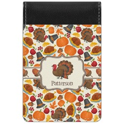 Traditional Thanksgiving Genuine Leather Small Memo Pad (Personalized)