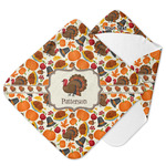 Traditional Thanksgiving Hooded Baby Towel (Personalized)