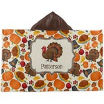 Traditional Thanksgiving Kids Hooded Towel (Personalized)