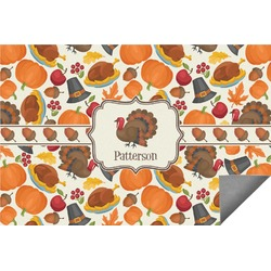 Traditional Thanksgiving Indoor / Outdoor Rug (Personalized)
