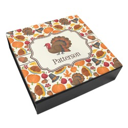 Traditional Thanksgiving Leatherette Keepsake Box - 8x8 (Personalized)