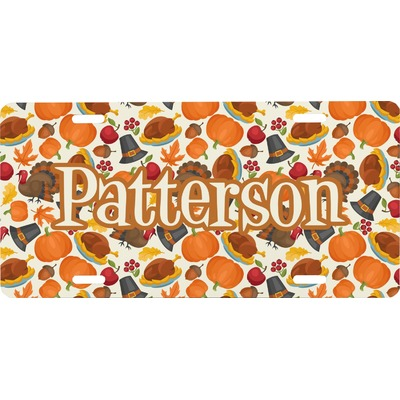 Traditional Thanksgiving Front License Plate (Personalized)