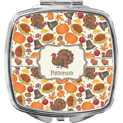 Traditional Thanksgiving Compact Makeup Mirror (Personalized)