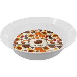 Traditional Thanksgiving Melamine Bowl (Personalized)