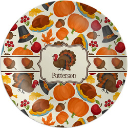 """Traditional Thanksgiving Melamine Salad Plate - 8"""" (Personalized)"""
