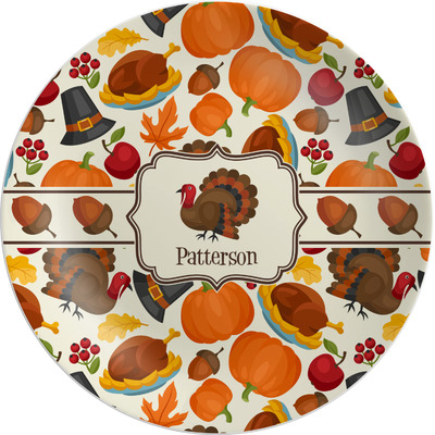 Traditional Thanksgiving Melamine Plate (Personalized)