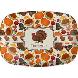 Traditional Thanksgiving Melamine Platter (Personalized)