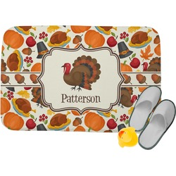 Traditional Thanksgiving Memory Foam Bath Mat (Personalized)