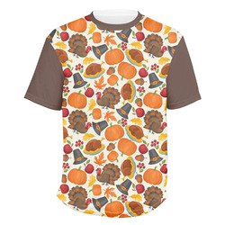 Traditional Thanksgiving Men's Crew T-Shirt (Personalized)