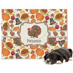 Traditional Thanksgiving Minky Dog Blanket (Personalized)