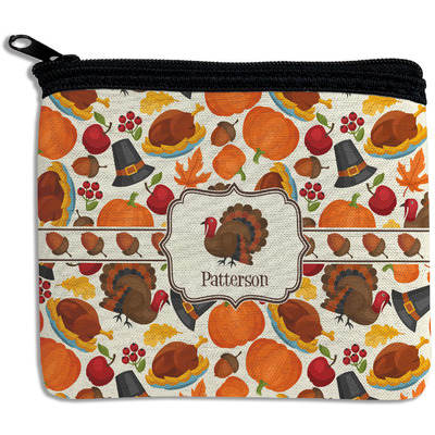 Traditional Thanksgiving Rectangular Coin Purse (Personalized)