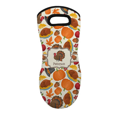 Traditional Thanksgiving Neoprene Oven Mitt - Single w/ Name or Text