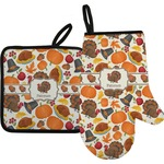 Traditional Thanksgiving Oven Mitt & Pot Holder (Personalized)