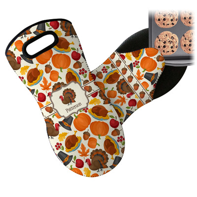 Traditional Thanksgiving Neoprene Oven Mitt (Personalized)