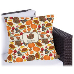 Traditional Thanksgiving Outdoor Pillow (Personalized)