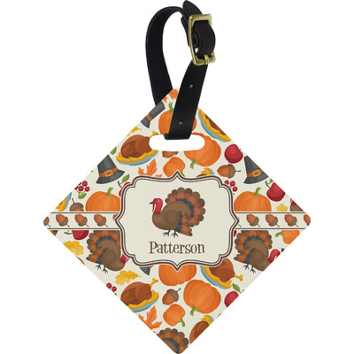 Traditional Thanksgiving Diamond Luggage Tag (Personalized)