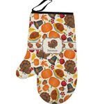 Traditional Thanksgiving Left Oven Mitt (Personalized)