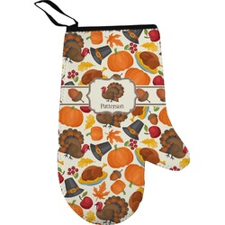 Traditional Thanksgiving Right Oven Mitt (Personalized)