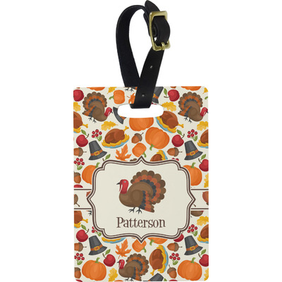 Traditional Thanksgiving Rectangular Luggage Tag (Personalized)