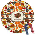 Traditional Thanksgiving Round Fridge Magnet (Personalized)