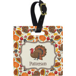 Traditional Thanksgiving Square Luggage Tag (Personalized)