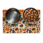 Traditional Thanksgiving Pet Bowl Mat (Personalized)