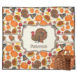 Traditional Thanksgiving Outdoor Picnic Blanket (Personalized)