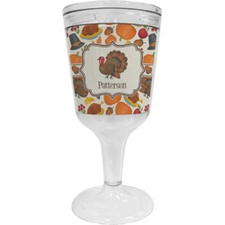 Traditional Thanksgiving Wine Tumbler - 11 oz Plastic (Personalized)