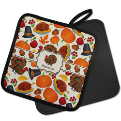 Traditional Thanksgiving Pot Holder w/ Name or Text