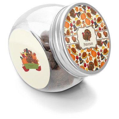 Traditional Thanksgiving Puppy Treat Jar (Personalized)