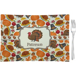 Traditional Thanksgiving Rectangular Appetizer / Dessert Plate (Personalized)