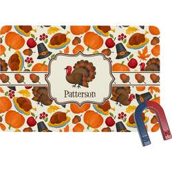 Traditional Thanksgiving Rectangular Fridge Magnet (Personalized)